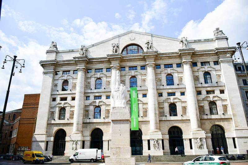 The stock exchange of Milan, Italy royalty free stock image