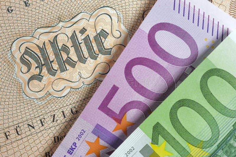 Stock exchange record in germany stock photo