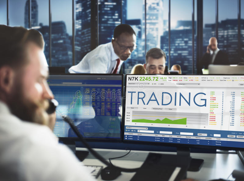 Stock Exchange Trading Forex Finance Graphic Concept stock photo
