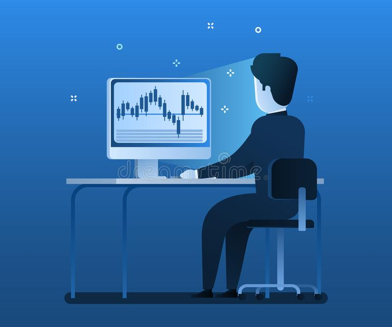 Stock Exchange Trading Forex Finance Graphic Concept. royalty free illustration