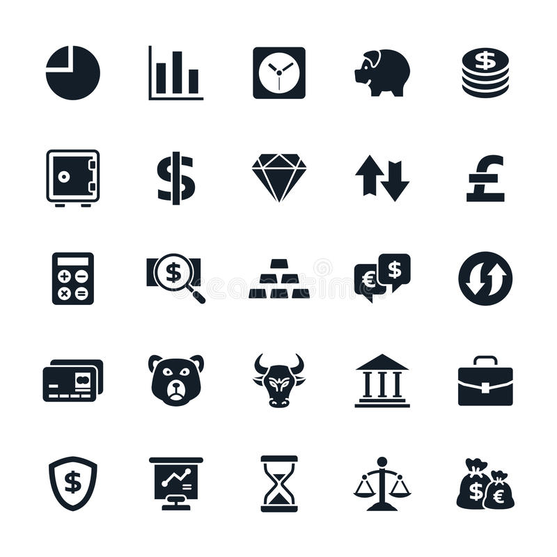 Stock and Finance icons vector illustration