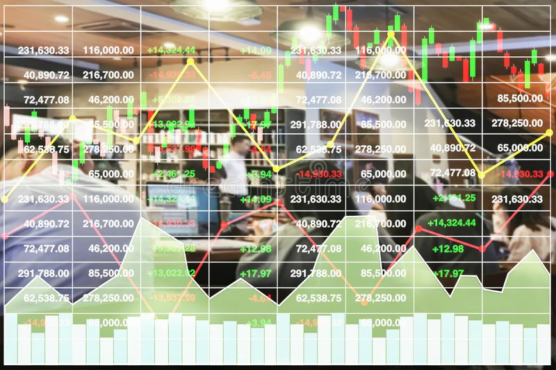 Stock financial index show successful investment background. stock image