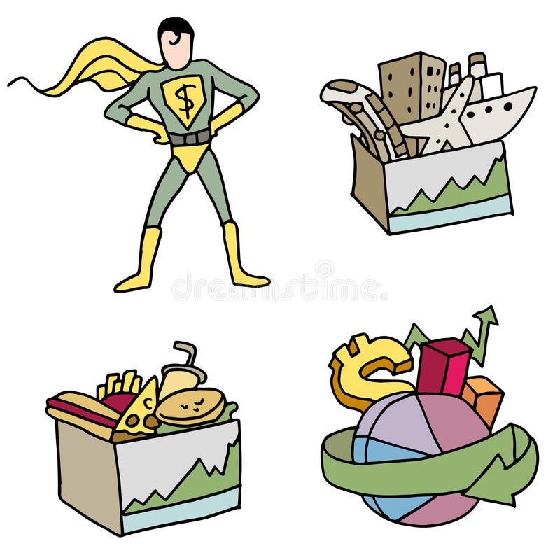 Stock Fund Items. An image of stock fund investment items royalty free illustration