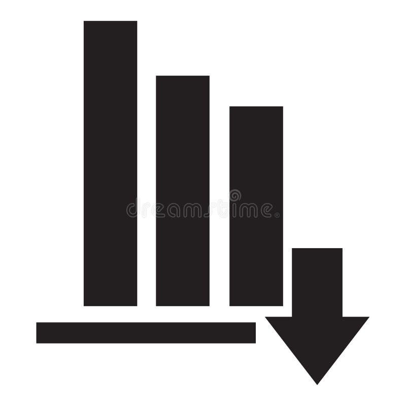 Stock icon on white background. flat style. financial market crash icon for your web site design.  stock illustration