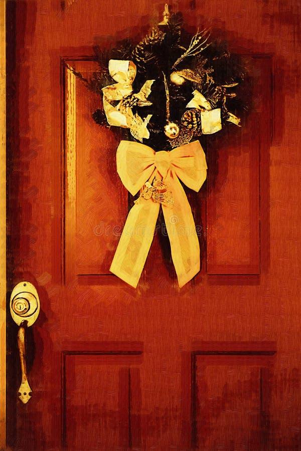 Download Stock Illustration Of Christmas Door Stock Photos - Image: 14344053