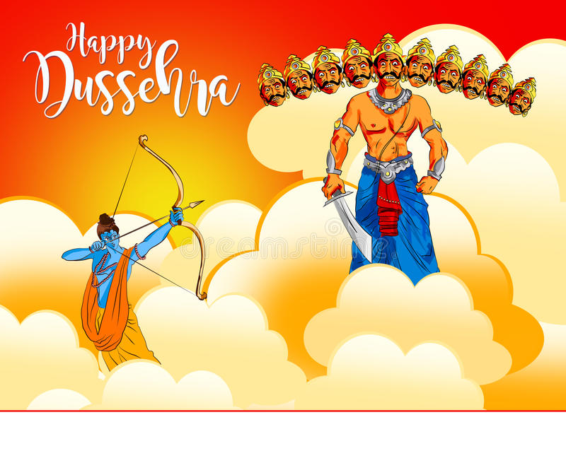Stock illustration of a greeting card saying happy dussehra with download stock illustration of a greeting card saying happy dussehra with sketch of lord rama and m4hsunfo