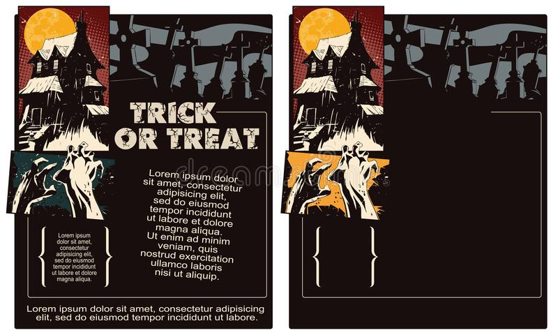 Stock illustration. Halloween template flyer. vector illustration