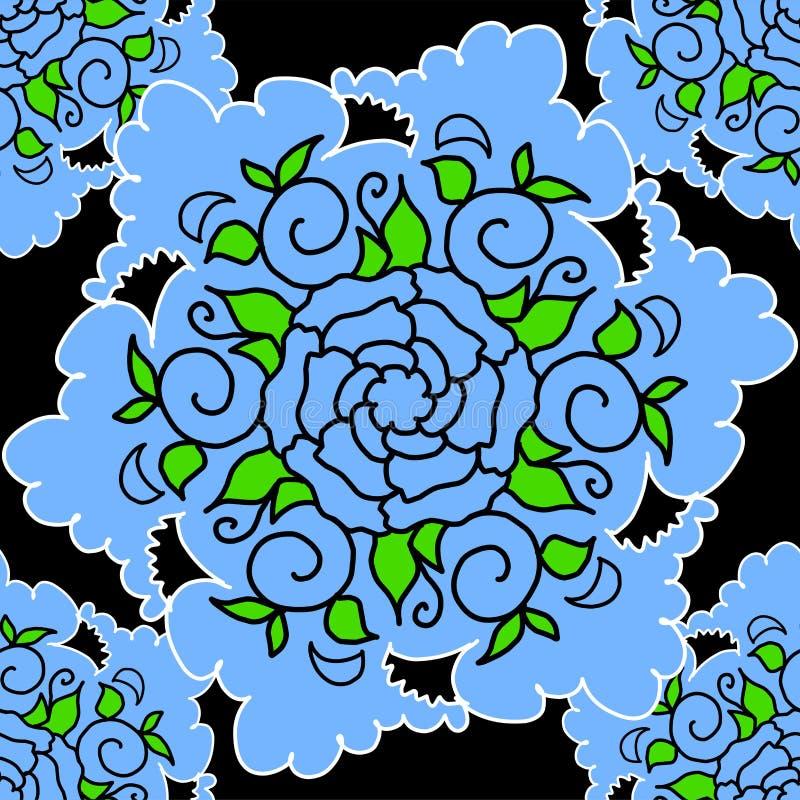 Stock Illustration Seamless Texture Blue Flower royalty free illustration