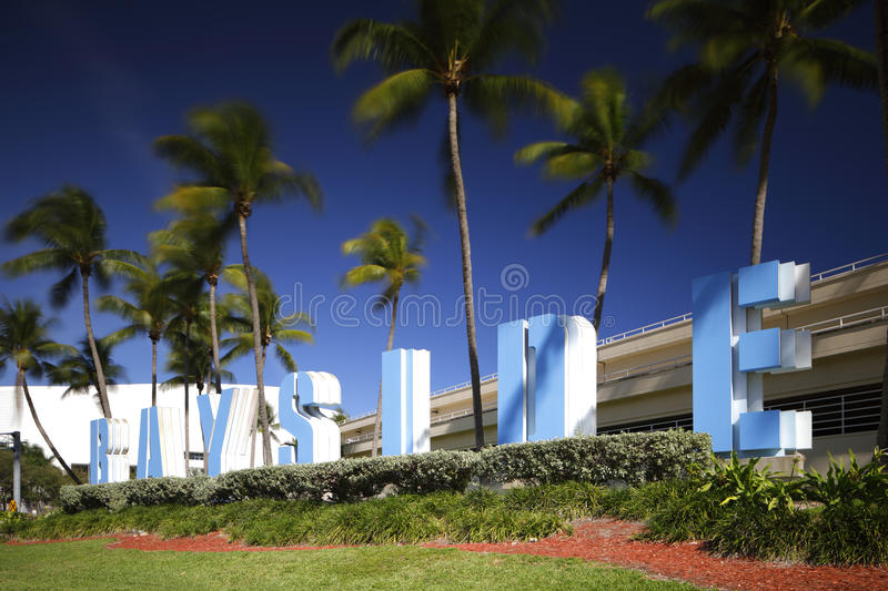 Stock image of Bayside Market place street sign royalty free stock photos