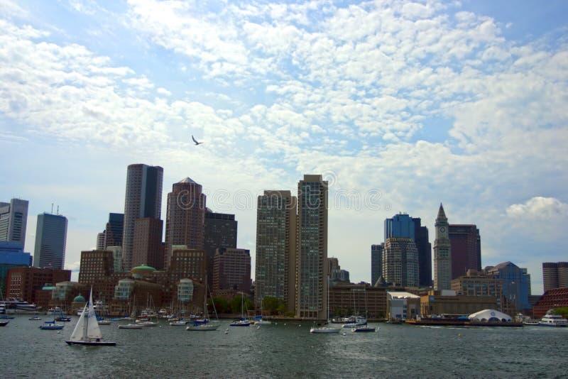 Stock image of Boston skyline, Inner Harbor, USA stock photo