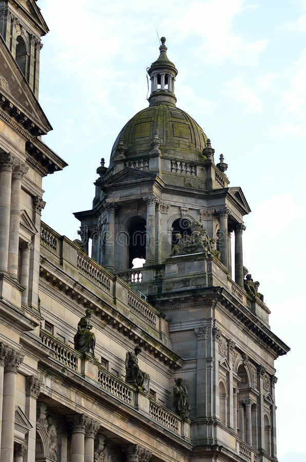 Stock image of City Chambers in George Square, Glasgow, Scotland.  royalty free stock photos