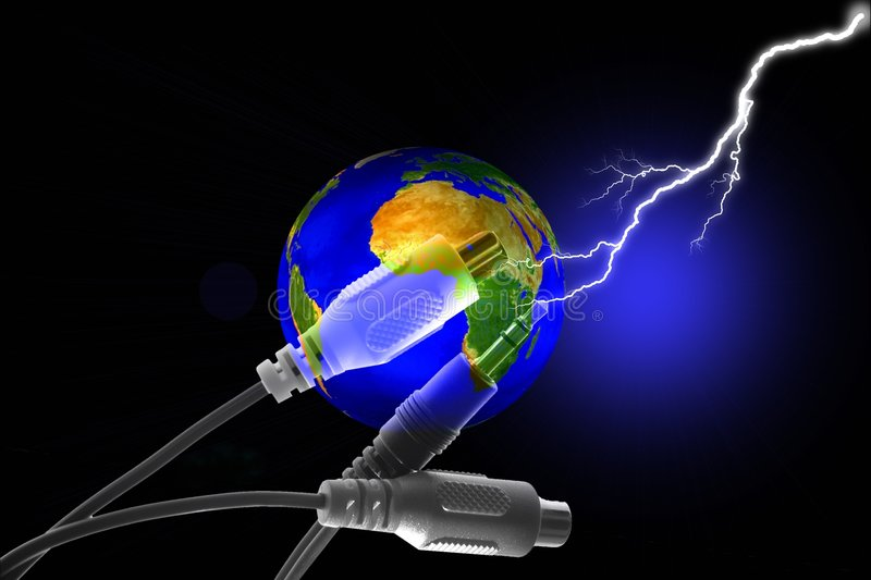 Stock Image of Earth Connection Concept vector illustration