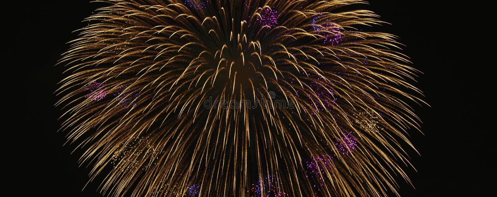 Japanese Superb view fireworks stock images