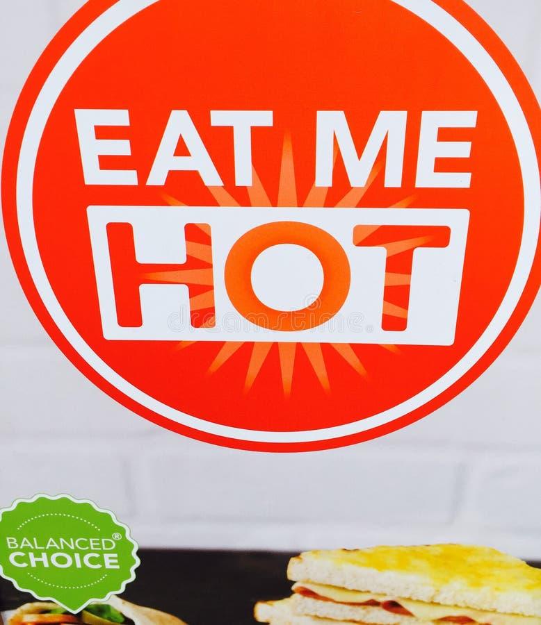 Stock Image - Sign Saying Eat Me Hot stock image