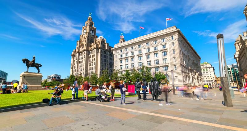 Stock image of the skyline of Liverpool, UK stock photography