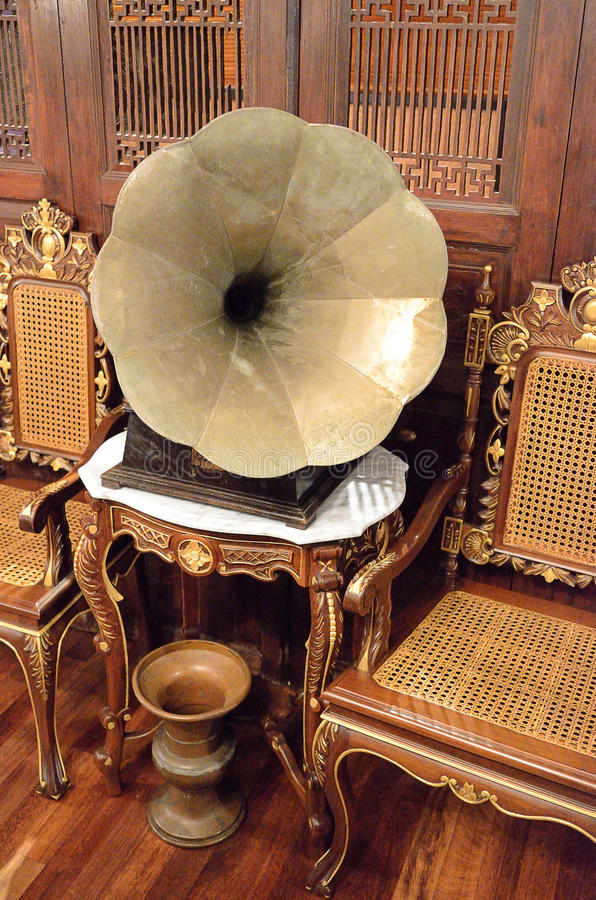 Stock image of a vintage gramophone.  royalty free stock photos