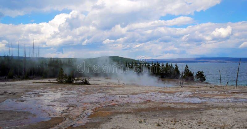 Stock image of West Thumb Geyser Basin, Yellowstone National Park, USA stock photo
