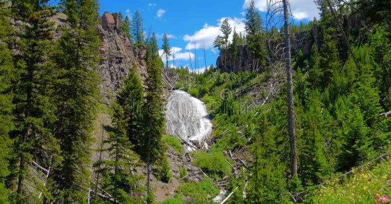 Stock image of Wraith Falls, Yellowstone National Park, USA stock photo