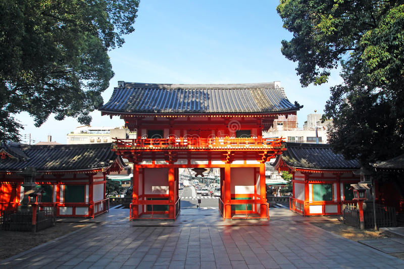 Stock image of Yasaka Shrine, Gion District, Kyoto, Japan. Yasaka Shrine, also known as Gion Shrine, is famous for its Gion Matsuri, one of Japan's largest royalty free stock photo