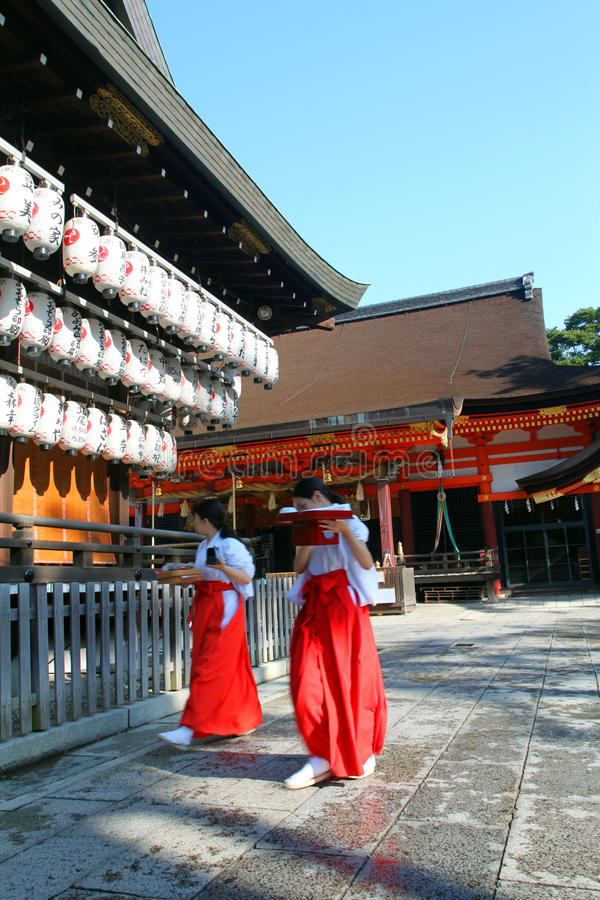 Stock image of Yasaka Shrine, Gion District, Kyoto, Japan royalty free stock photos