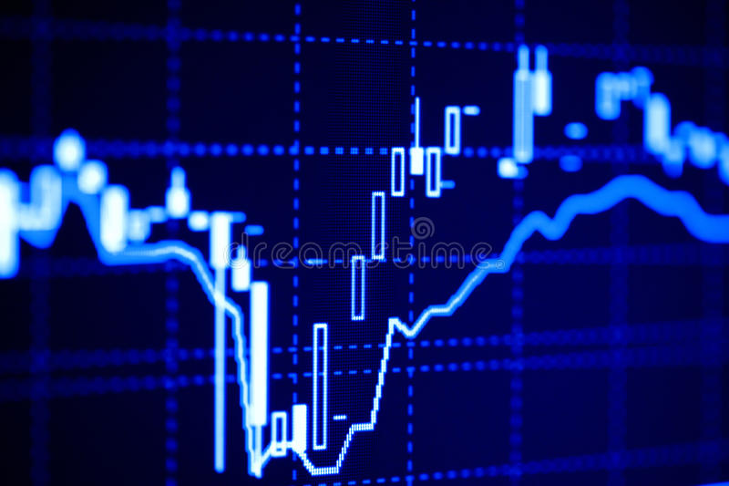 Download Financial Graphs On The Computer Monitor Royalty Free Stock Images - Image: 12417449
