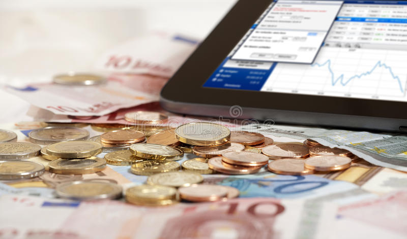 Download Stock index on Tablet PC stock photo. Image of dividend - 29165576