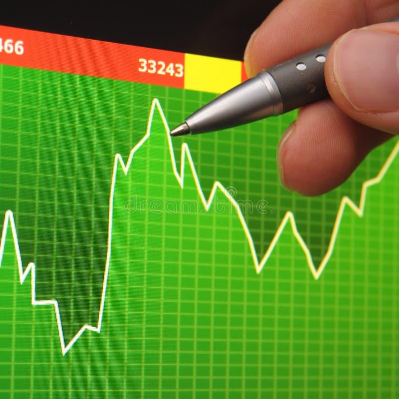 Stock market. Price of stocks at the market on screen royalty free stock photos