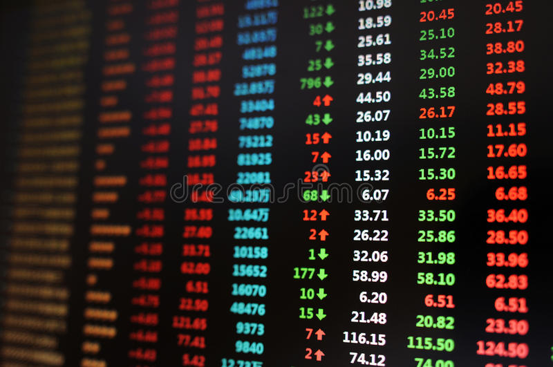 Stock market. A stock market chart with gains and losses royalty free stock images