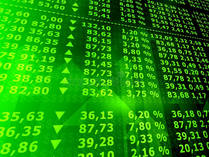 Stock market royalty free illustration