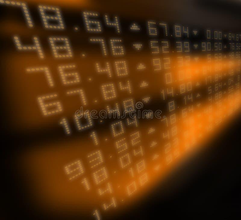 Stock Market. Illustration of a stocks market ticker board