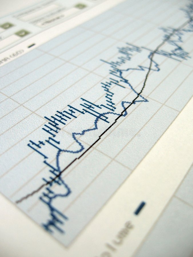 Stock market analysis stock images
