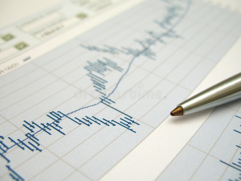 Stock market analysis stock image