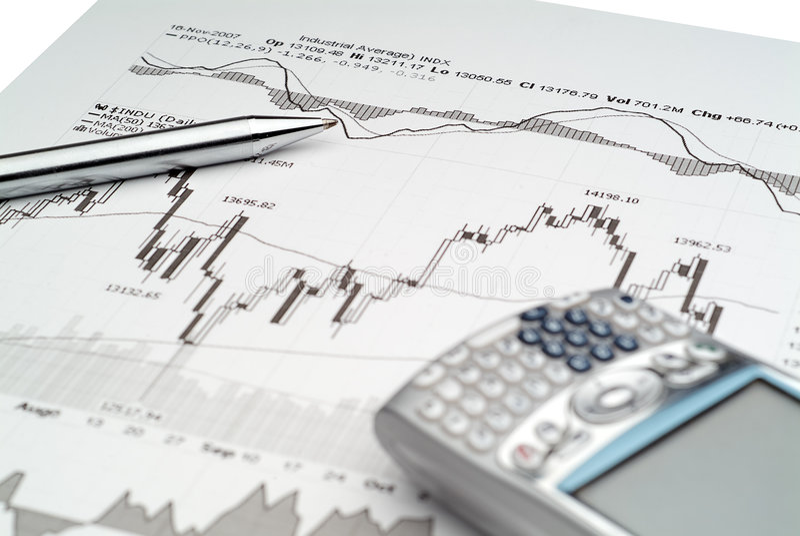 Stock Market Analysis royalty free stock image