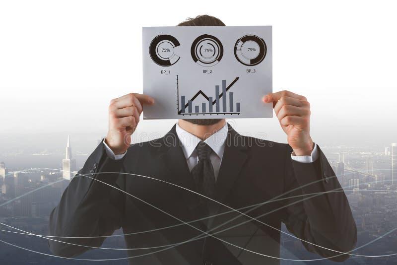 Stock market analysis concept royalty free stock image