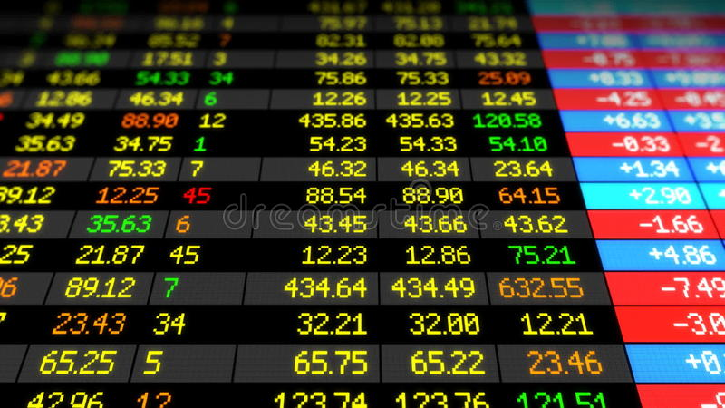 Stock Market Board moving up. HD 1080. Beautiful Looped 3d animation. Business concept video.  stock video
