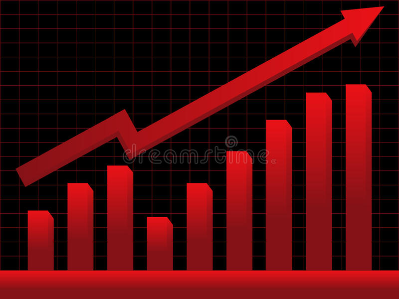 Stock market chart royalty free illustration