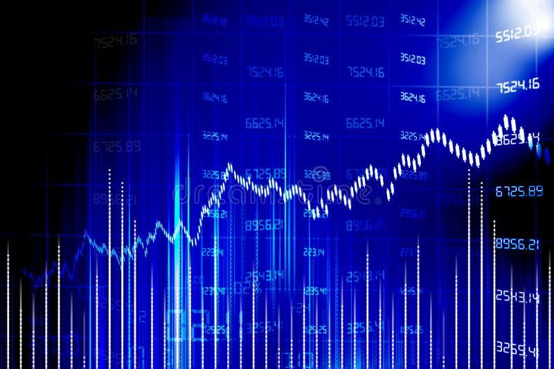 Stock market chart stock illustration