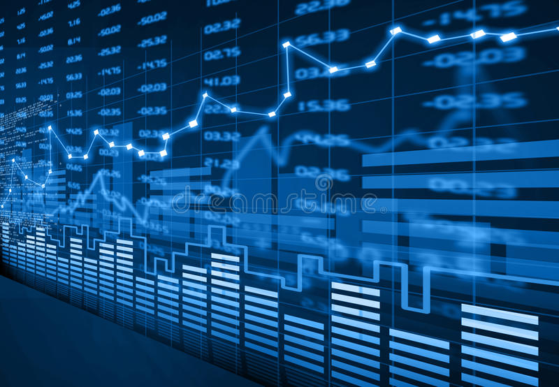 Stock market chart. Abstract financial background stock photography