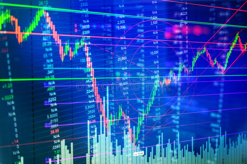 Stock market chart. BUSINESS FINANCE CONCEPT royalty free stock photos
