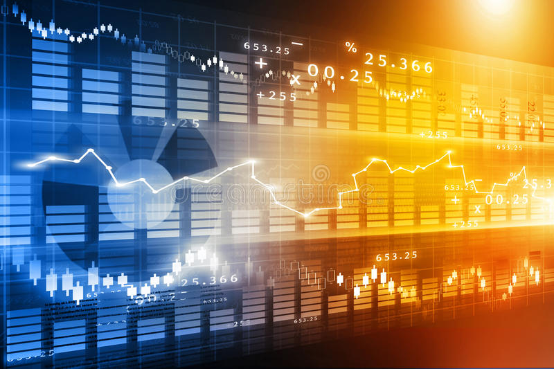 Stock market chart. Financial background royalty free stock photo