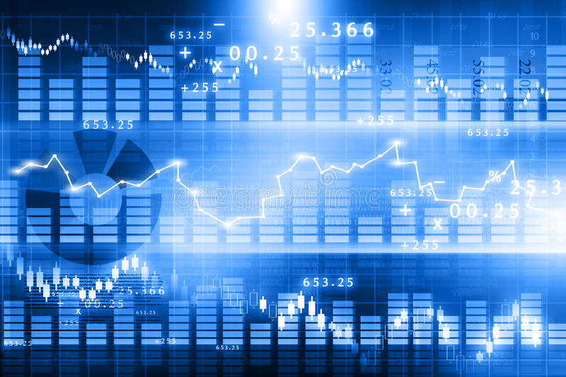 Stock market chart. Financial background stock photos