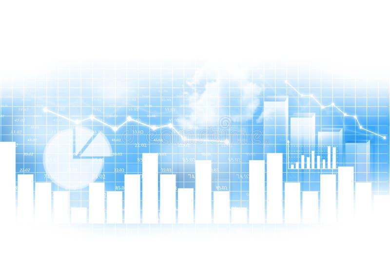Stock market chart. Financial background stock illustration