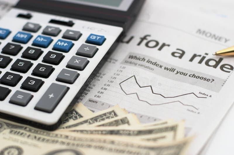Download Stock Market Chart, With Pen, Closeup Stock Photos - Image: 1224763