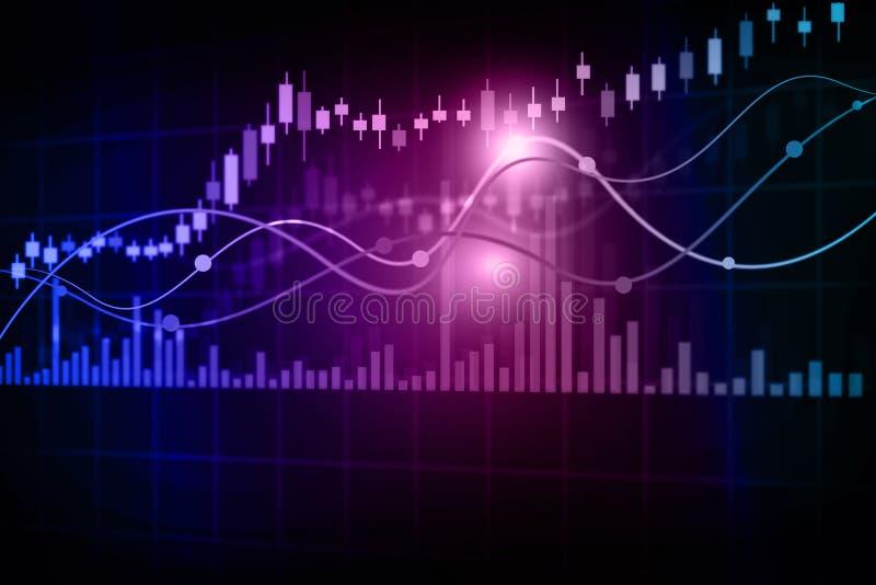 Stock market chart. Financial background vector illustration