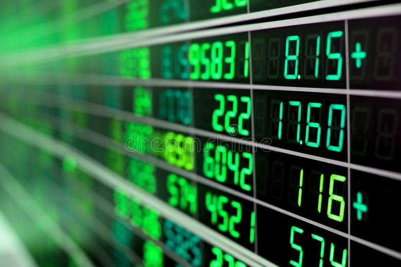 Stock market chart stock images