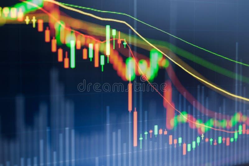 Stock market chart, Stock market data royalty free stock image