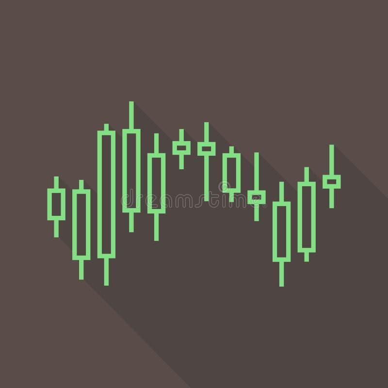 Stock market chart. Vector illustration stock illustration