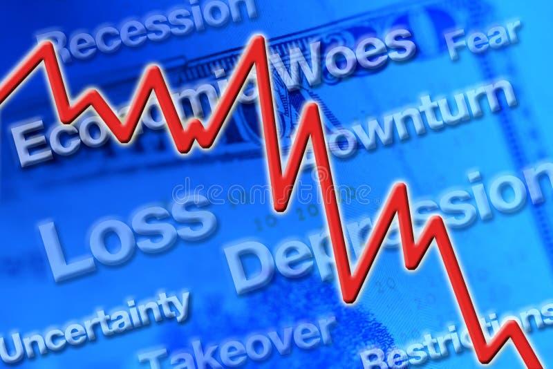 Stock Market Crash. Economic downturn graphic represents stock market crash royalty free illustration