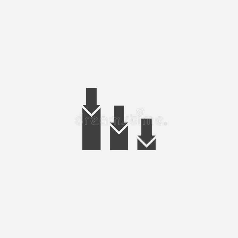 Stock market crash base icon. Simple. Sign illustration. stock market crash symbol design. Can be stock illustration