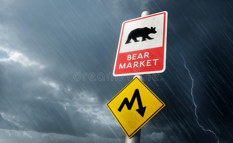Stock Market Crash - Bear Market royalty free stock photo